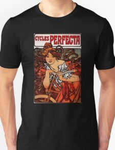'Cycles Perfecta' by Alphonse Mucha (Reproduction) Unisex T-Shirt