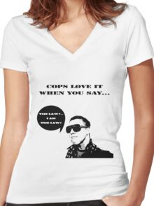 Cops are Fun Women's Fitted V-Neck T-Shirt