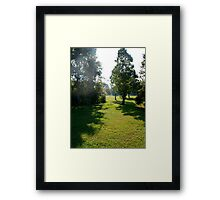 Weather report: sunny and hazy Framed Print