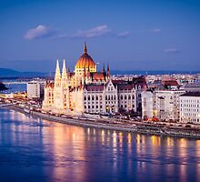 Budapest, Parliament at night by MarcoSaracco