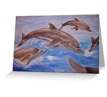 Dolphin High Five Greeting Card