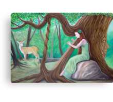 The Harpist and the Tree Canvas Print