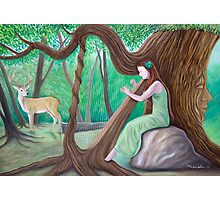 The Harpist and the Tree Photographic Print