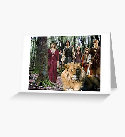 me and the Narnia crew Greeting Card