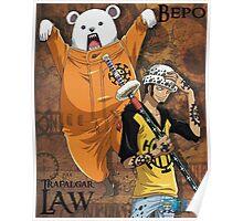 Trafalgar Law and Bepo Poster