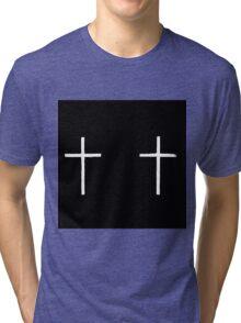 white crosses Tri-blend T-Shirt