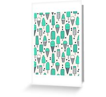 Ice Cream Season - Bright by Andrea Lauren Greeting Card