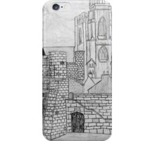 My Pencil Drawing of Bootham Gate and York Minster - all products iPhone Case/Skin