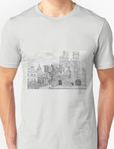 My Pencil Drawing of Bootham Gate and York Minster T-Shirt