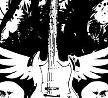 Girls, Skulls, and Guitars Sticker