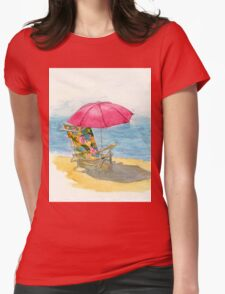 Beach Chair Womens Fitted T-Shirt