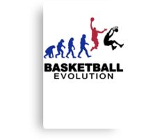 Evolution basket Dunk ! Canvas Print