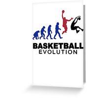 Evolution basket Dunk ! Greeting Card