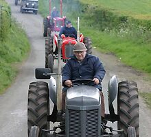 'Fergie' on a vintage tractor run, West Cumbria by R. F.  Simpson