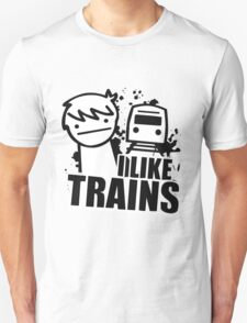 ASDF I LIKE TRAINS VIDEO MOVIE FUNNY T-Shirt