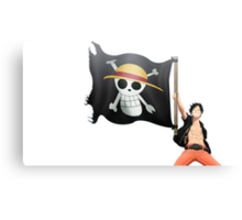 Luffy with the flag Canvas Print