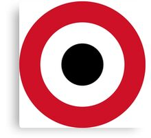 Roundel of Libyan Air Force, 1969-1977  Canvas Print