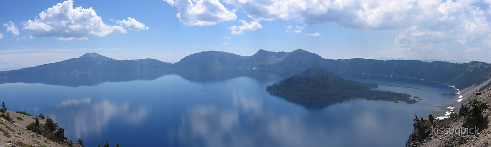 Crater Lake, Oregon Panorama 2 by kissuquick