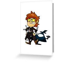 Bipper Pines Gravity Falls Greeting Card