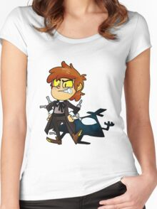 Bipper Pines Gravity Falls Women's Fitted Scoop T-Shirt