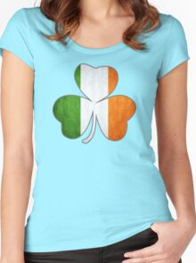 Tricolor Shamrock Women's Fitted Scoop T-Shirt