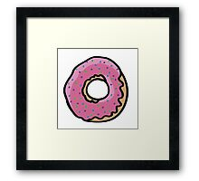 Donut with sprinkles Framed Print