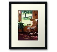 Home is Where I Hang My Hat Framed Print