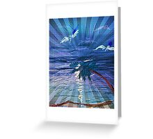 The last rays Greeting Card