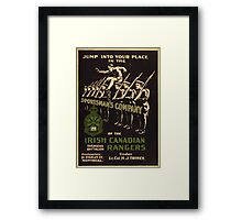 'Irish Canadian Ranger' Vintage Poster (Reproduction) Framed Print