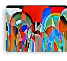 Insect view of a garden Canvas Print