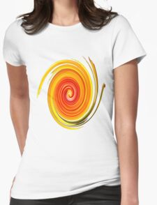 Swirl Long Sleeve Womens Fitted T-Shirt