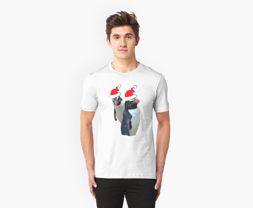 MR & MRS PENGUIN CLAUS    TEE by Sharon Robertson
