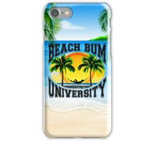 Beach Bum University iPhone Case/Skin