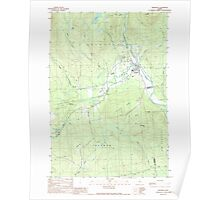 Maine USGS Historical Map Kingfield 105264 1989 24000 Poster