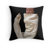my baby at four weeks Throw Pillow