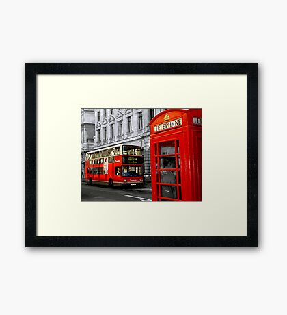 london with a touch of colour Framed Print