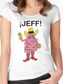 Meet Jeff the Diseased Lung! Women's Fitted Scoop T-Shirt