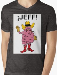 Meet Jeff the Diseased Lung! Mens V-Neck T-Shirt