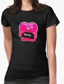 Sexy Heart Womens Fitted T-Shirt
