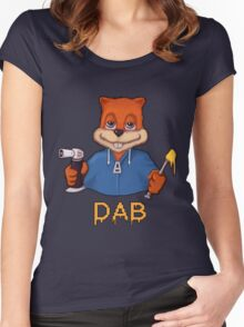 Squirrel Dab Women's Fitted Scoop T-Shirt