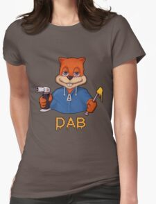 Squirrel Dab Womens Fitted T-Shirt