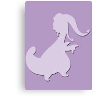 Goodra Pokémon #706 Shape (Silhouette) Canvas Print