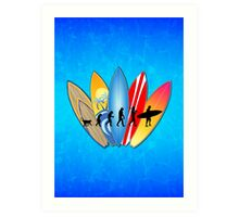 Surfing Evolution Art Print