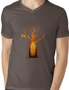 Kneeboard Tree Mens V-Neck T-Shirt