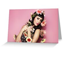 Katy Perry Flowers Greeting Card