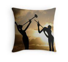 Music Nymphs Throw Pillow