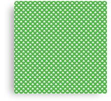 White Heart-Shaped Clover on Green St. Patrick's Day Canvas Print