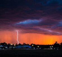 Lightning Sunset by Joel Bramley