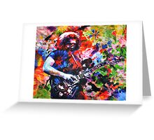 Jerry Garcia Art Print, Grateful Dead Original Painting Greeting Card
