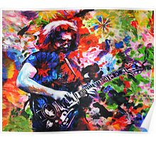 Jerry Garcia Art Print, Grateful Dead Original Painting Poster